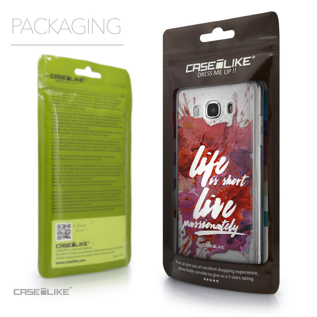 Packaging - CASEiLIKE Samsung Galaxy J5 (2016) back cover Quote 2423