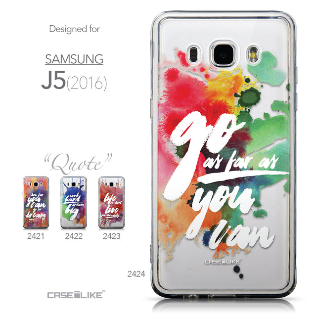 Collection - CASEiLIKE Samsung Galaxy J5 (2016) back cover Quote 2424