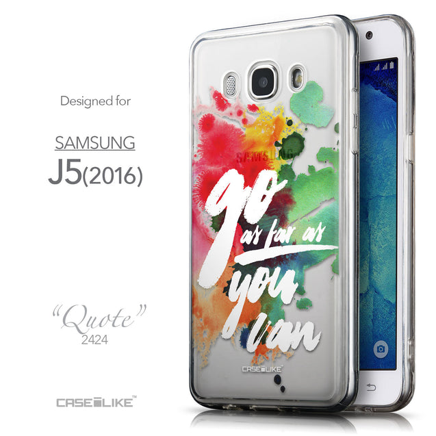 Front & Side View - CASEiLIKE Samsung Galaxy J5 (2016) back cover Quote 2424