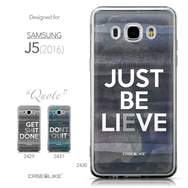 Collection - CASEiLIKE Samsung Galaxy J5 (2016) back cover Quote 2430