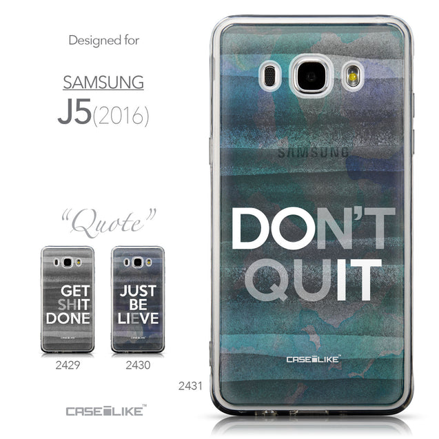 Collection - CASEiLIKE Samsung Galaxy J5 (2016) back cover Quote 2431