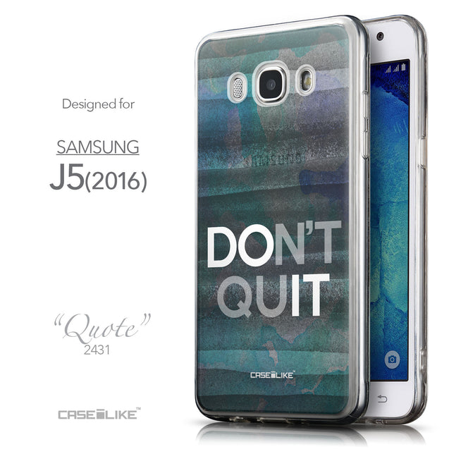Front & Side View - CASEiLIKE Samsung Galaxy J5 (2016) back cover Quote 2431