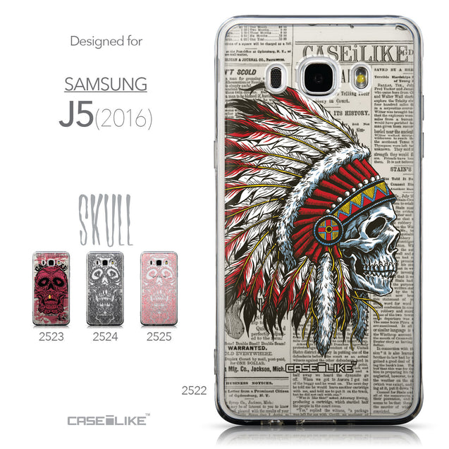 Collection - CASEiLIKE Samsung Galaxy J5 (2016) back cover Art of Skull 2522