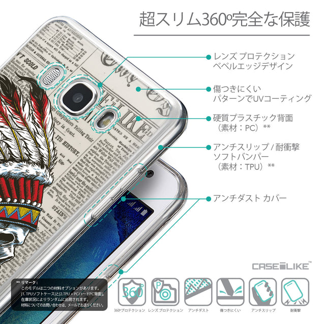 Details in Japanese - CASEiLIKE Samsung Galaxy J5 (2016) back cover Art of Skull 2522