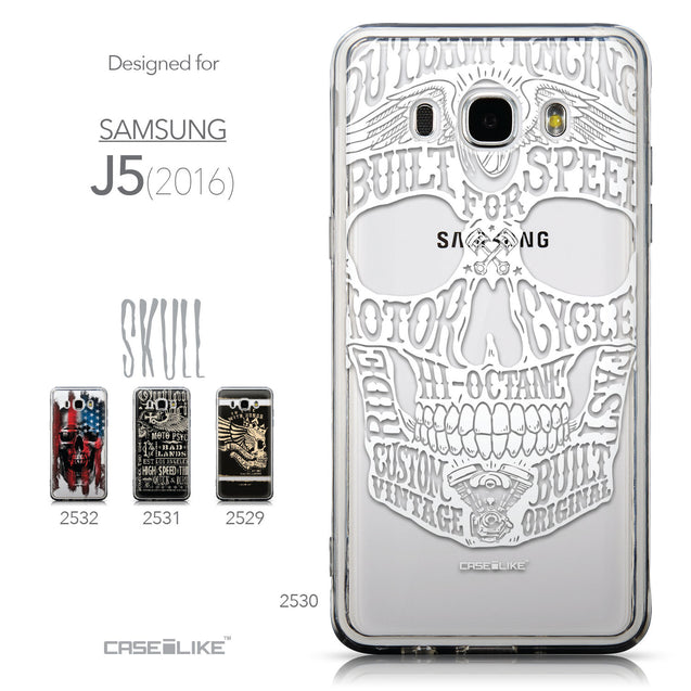 Collection - CASEiLIKE Samsung Galaxy J5 (2016) back cover Art of Skull 2530