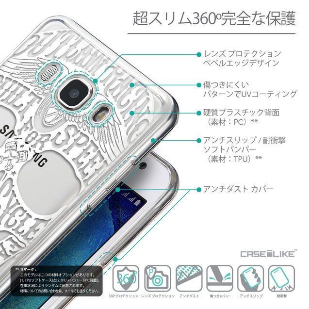 Details in Japanese - CASEiLIKE Samsung Galaxy J5 (2016) back cover Art of Skull 2530