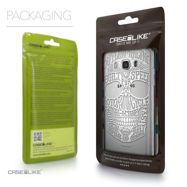 Packaging - CASEiLIKE Samsung Galaxy J5 (2016) back cover Art of Skull 2530