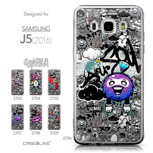 Collection - CASEiLIKE Samsung Galaxy J5 (2016) back cover Graffiti 2706