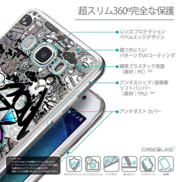 Details in Japanese - CASEiLIKE Samsung Galaxy J5 (2016) back cover Graffiti 2706