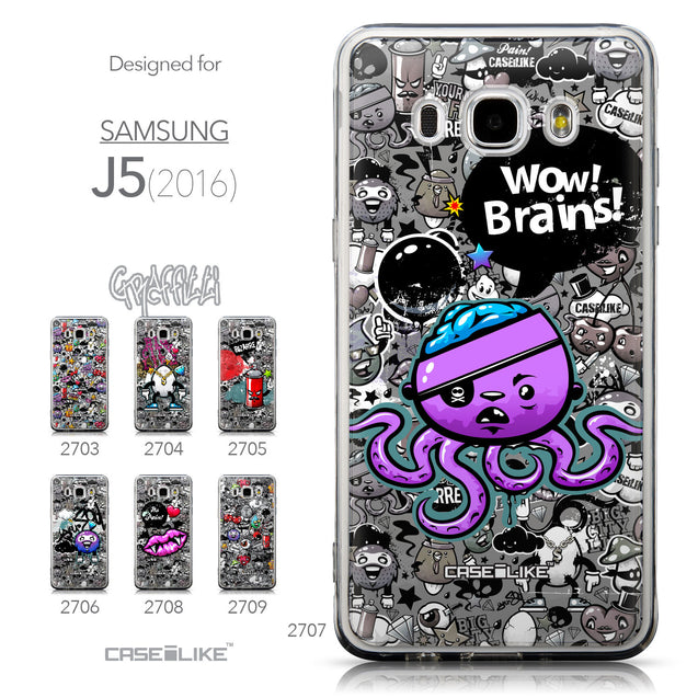 Collection - CASEiLIKE Samsung Galaxy J5 (2016) back cover Graffiti 2707