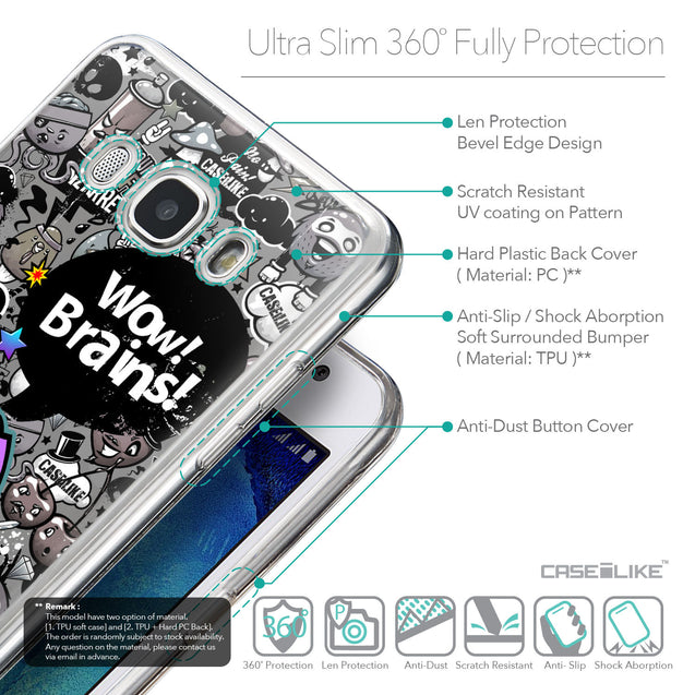 Details in English - CASEiLIKE Samsung Galaxy J5 (2016) back cover Graffiti 2707