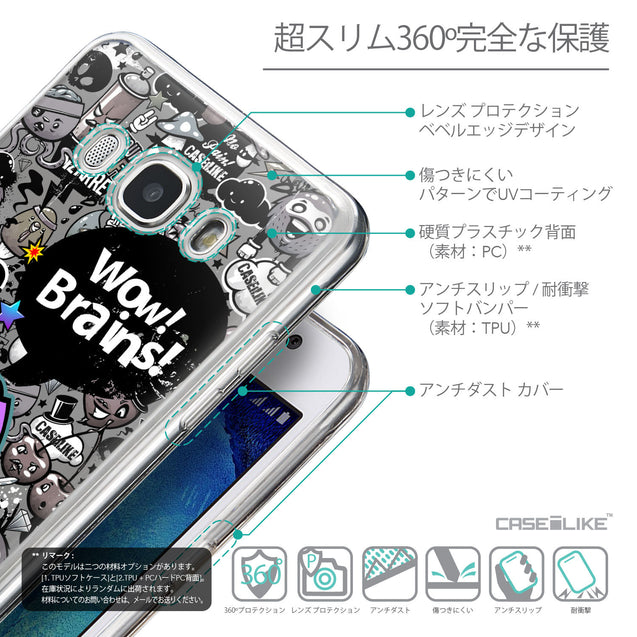 Details in Japanese - CASEiLIKE Samsung Galaxy J5 (2016) back cover Graffiti 2707