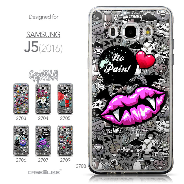 Collection - CASEiLIKE Samsung Galaxy J5 (2016) back cover Graffiti 2708