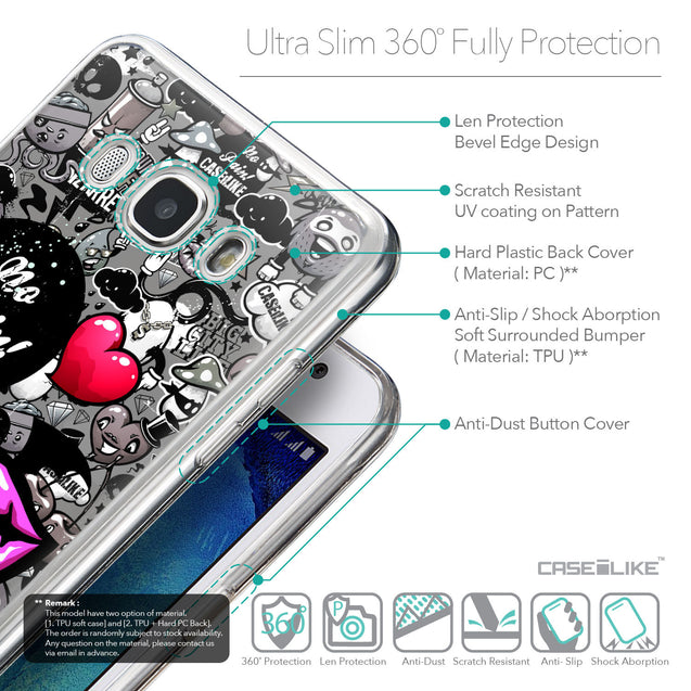 Details in English - CASEiLIKE Samsung Galaxy J5 (2016) back cover Graffiti 2708