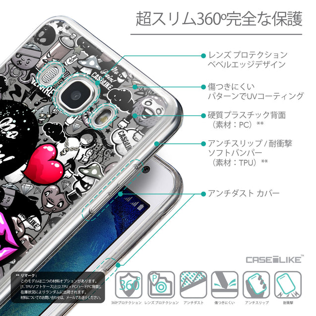 Details in Japanese - CASEiLIKE Samsung Galaxy J5 (2016) back cover Graffiti 2708