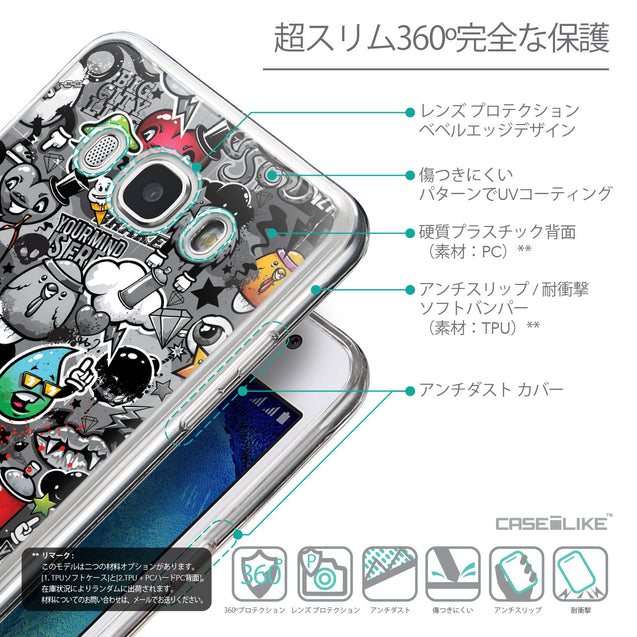 Details in Japanese - CASEiLIKE Samsung Galaxy J5 (2016) back cover Graffiti 2709