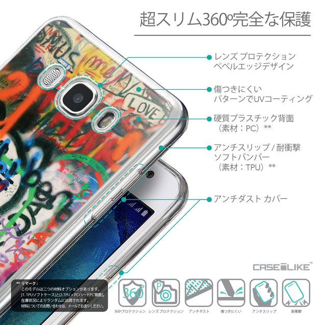 Details in Japanese - CASEiLIKE Samsung Galaxy J5 (2016) back cover Graffiti 2721