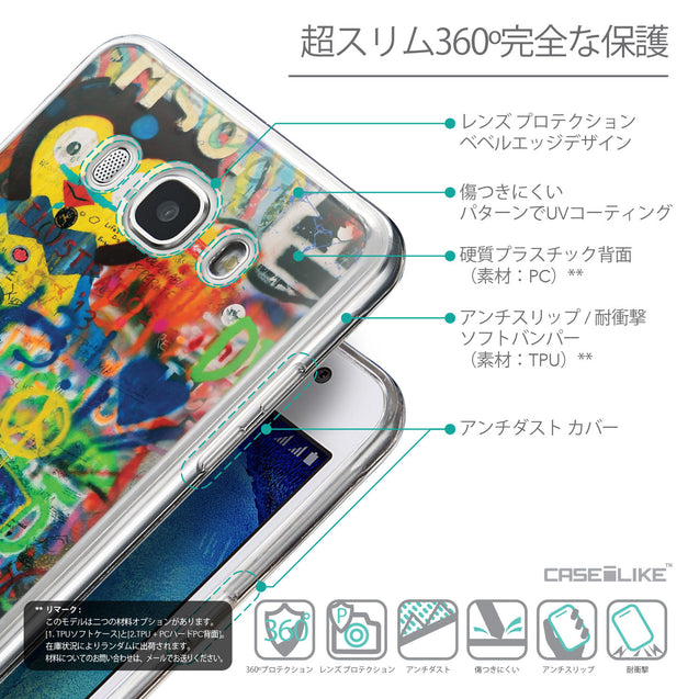 Details in Japanese - CASEiLIKE Samsung Galaxy J5 (2016) back cover Graffiti 2723