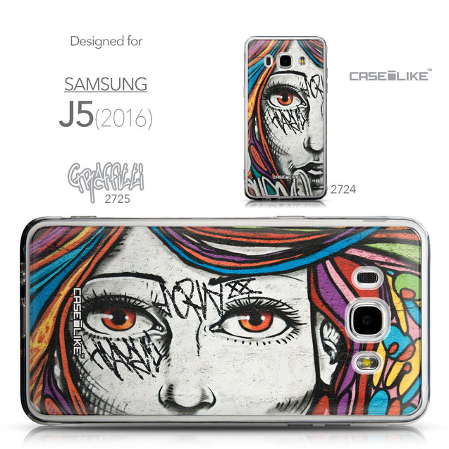 Collection - CASEiLIKE Samsung Galaxy J5 (2016) back cover Graffiti Girl 2725