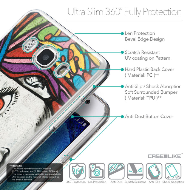 Details in English - CASEiLIKE Samsung Galaxy J5 (2016) back cover Graffiti Girl 2725