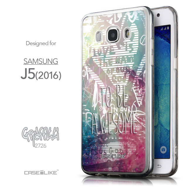Front & Side View - CASEiLIKE Samsung Galaxy J5 (2016) back cover Graffiti 2726