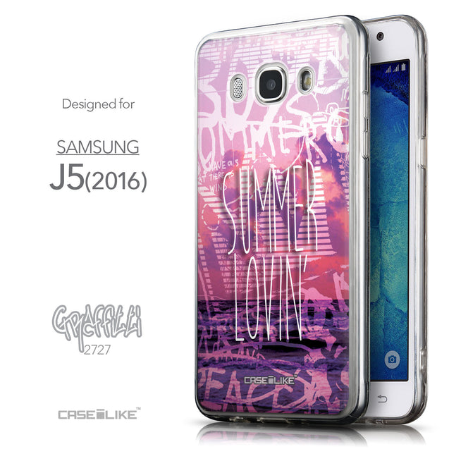 Front & Side View - CASEiLIKE Samsung Galaxy J5 (2016) back cover Graffiti 2727