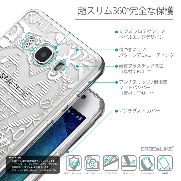 Details in Japanese - CASEiLIKE Samsung Galaxy J5 (2016) back cover Graffiti 2730