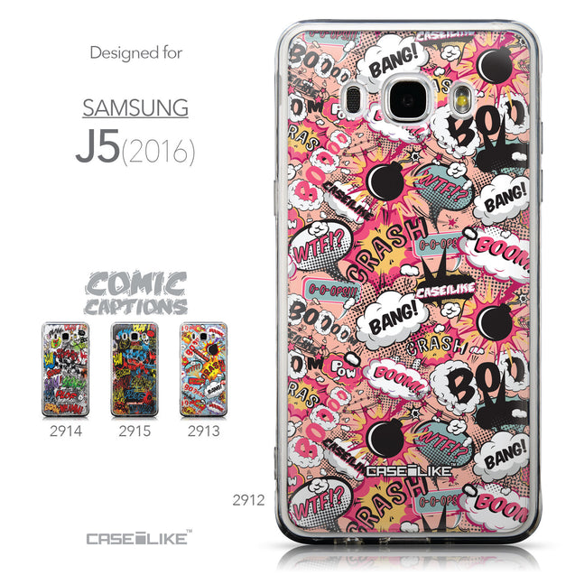 Collection - CASEiLIKE Samsung Galaxy J5 (2016) back cover Comic Captions Pink 2912