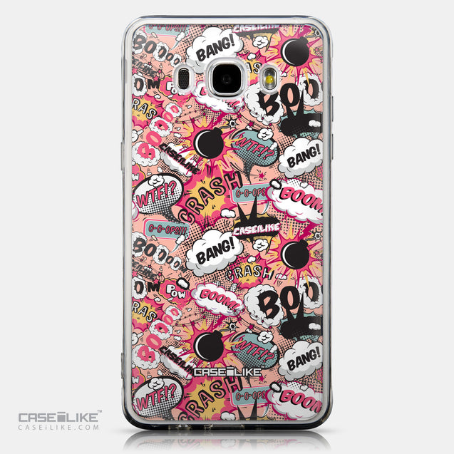 CASEiLIKE Samsung Galaxy J5 (2016) back cover Comic Captions Pink 2912
