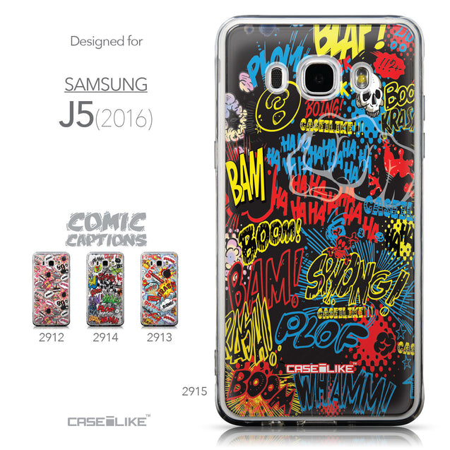 Collection - CASEiLIKE Samsung Galaxy J5 (2016) back cover Comic Captions Black 2915
