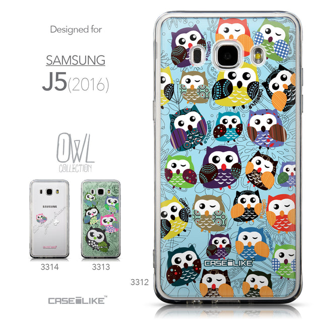 Collection - CASEiLIKE Samsung Galaxy J5 (2016) back cover Owl Graphic Design 3312