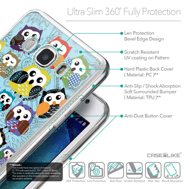 Details in English - CASEiLIKE Samsung Galaxy J5 (2016) back cover Owl Graphic Design 3312