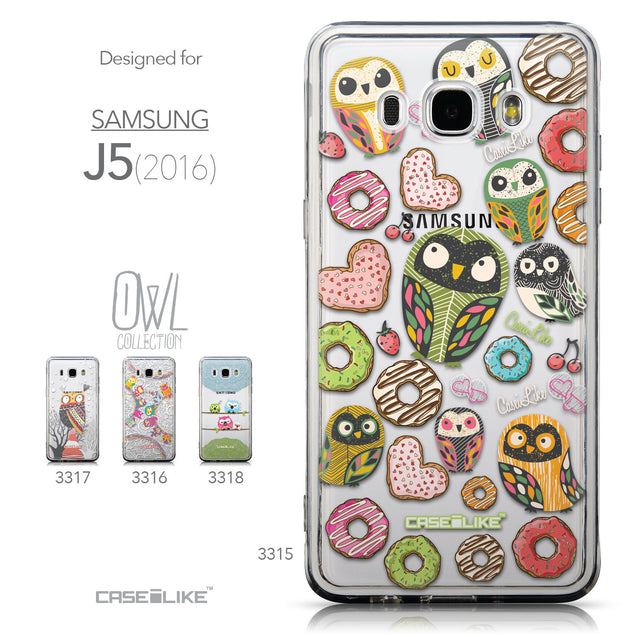 Collection - CASEiLIKE Samsung Galaxy J5 (2016) back cover Owl Graphic Design 3315