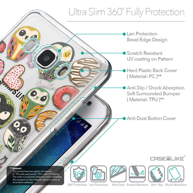 Details in English - CASEiLIKE Samsung Galaxy J5 (2016) back cover Owl Graphic Design 3315