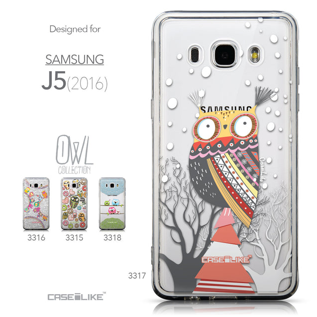 Collection - CASEiLIKE Samsung Galaxy J5 (2016) back cover Owl Graphic Design 3317