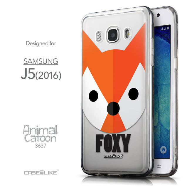 Front & Side View - CASEiLIKE Samsung Galaxy J5 (2016) back cover Animal Cartoon 3637