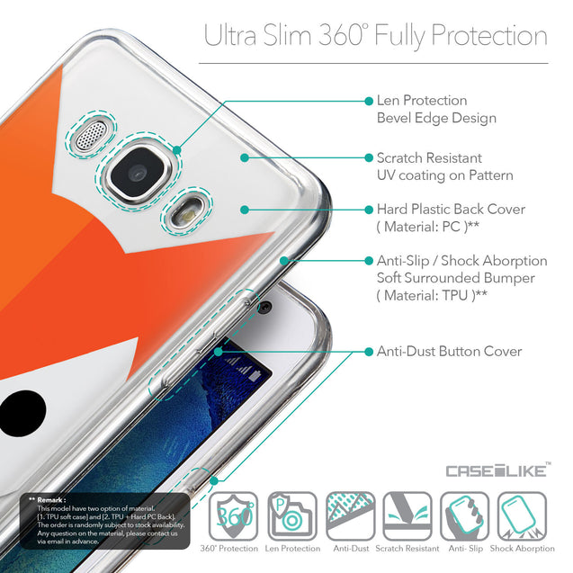 Details in English - CASEiLIKE Samsung Galaxy J5 (2016) back cover Animal Cartoon 3637