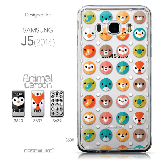 Collection - CASEiLIKE Samsung Galaxy J5 (2016) back cover Animal Cartoon 3638