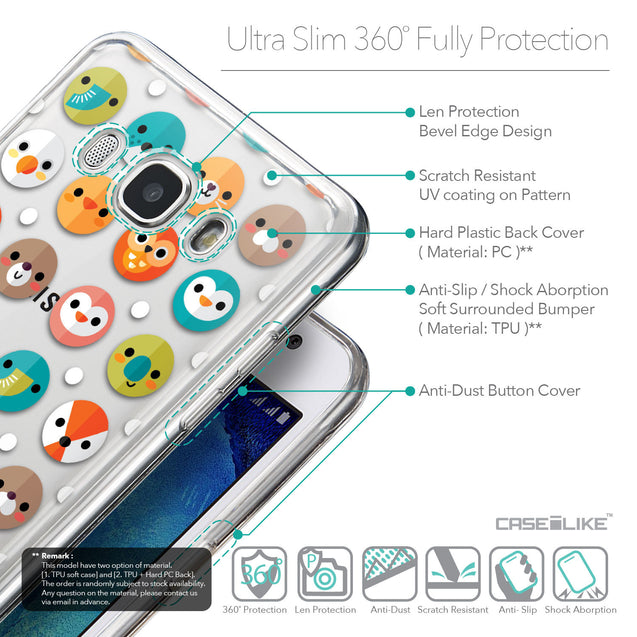 Details in English - CASEiLIKE Samsung Galaxy J5 (2016) back cover Animal Cartoon 3638