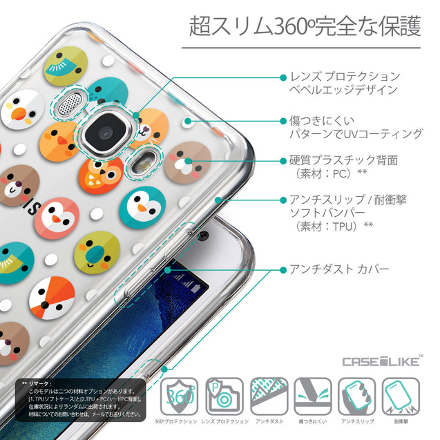 Details in Japanese - CASEiLIKE Samsung Galaxy J5 (2016) back cover Animal Cartoon 3638