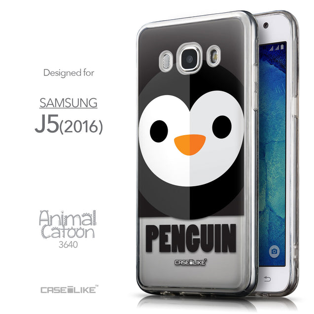 Front & Side View - CASEiLIKE Samsung Galaxy J5 (2016) back cover Animal Cartoon 3640