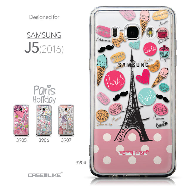 Collection - CASEiLIKE Samsung Galaxy J5 (2016) back cover Paris Holiday 3904