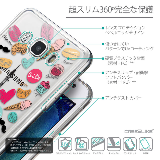 Details in Japanese - CASEiLIKE Samsung Galaxy J5 (2016) back cover Paris Holiday 3904