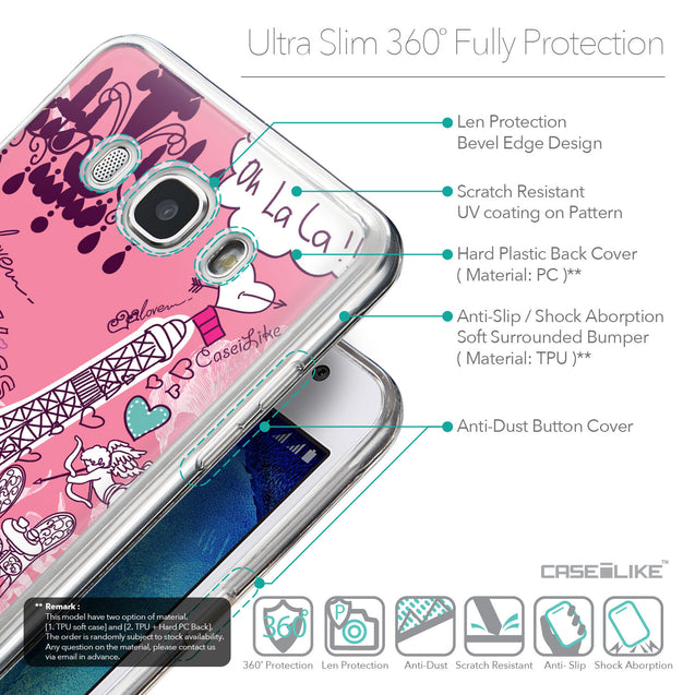 Details in English - CASEiLIKE Samsung Galaxy J5 (2016) back cover Paris Holiday 3905