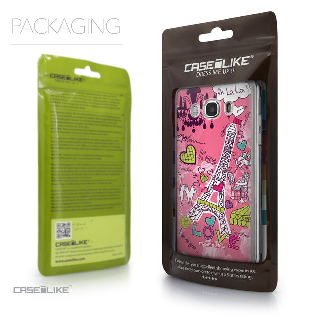Packaging - CASEiLIKE Samsung Galaxy J5 (2016) back cover Paris Holiday 3905