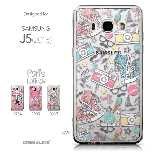 Collection - CASEiLIKE Samsung Galaxy J5 (2016) back cover Paris Holiday 3906