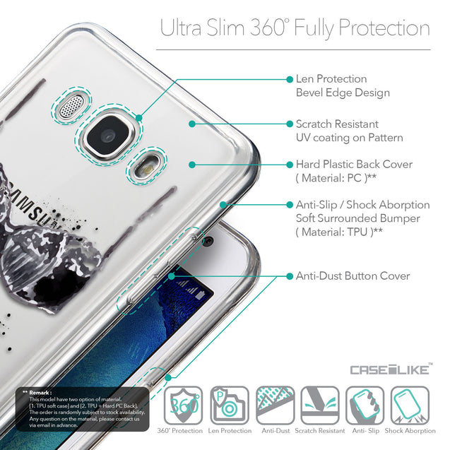 Details in English - CASEiLIKE Samsung Galaxy J5 (2016) back cover Paris Holiday 3910