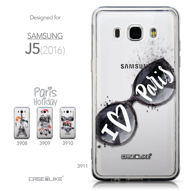 Collection - CASEiLIKE Samsung Galaxy J5 (2016) back cover Paris Holiday 3911
