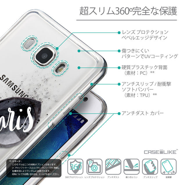 Details in Japanese - CASEiLIKE Samsung Galaxy J5 (2016) back cover Paris Holiday 3911
