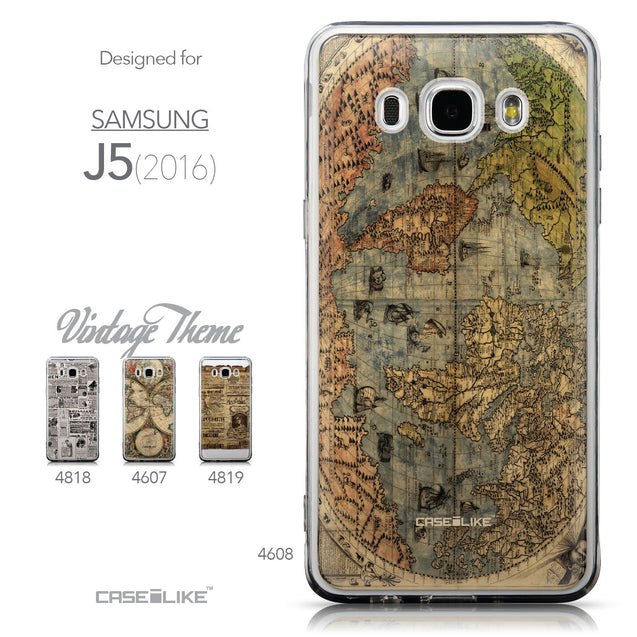 Collection - CASEiLIKE Samsung Galaxy J5 (2016) back cover World Map Vintage 4608